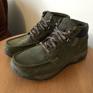 Chaco Jaeger Green Leather Hiking Boots Men's Sz 9